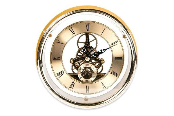 Uhr, sichtbare Mechanik