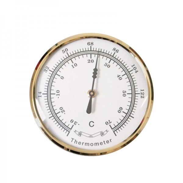 Bausatz Thermometer, messing/Glas, Ø 85 mm, °C/°F