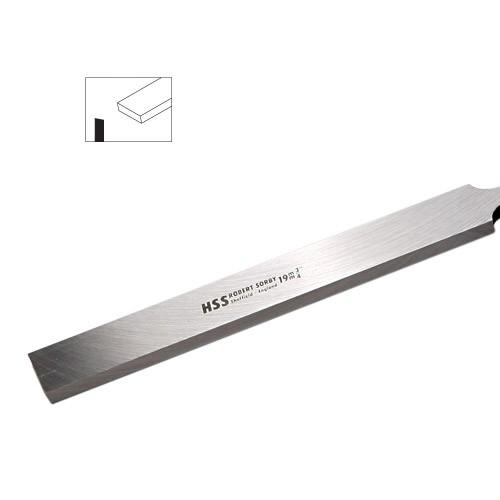 Schaber gerade 13 mm ohne Griff (flacher Schaft)