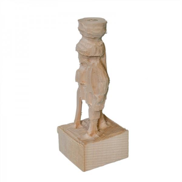 vorgefräste Figur, Jäger, Schnitzrohling aus Linde