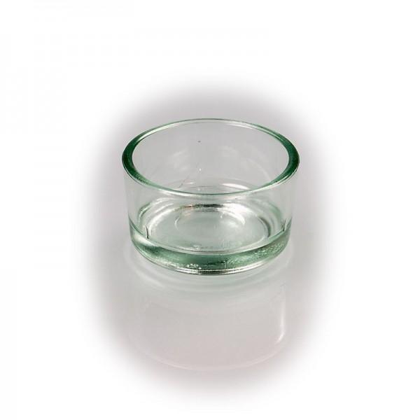 Teelicht-Glas klar, Pressglas, Weck