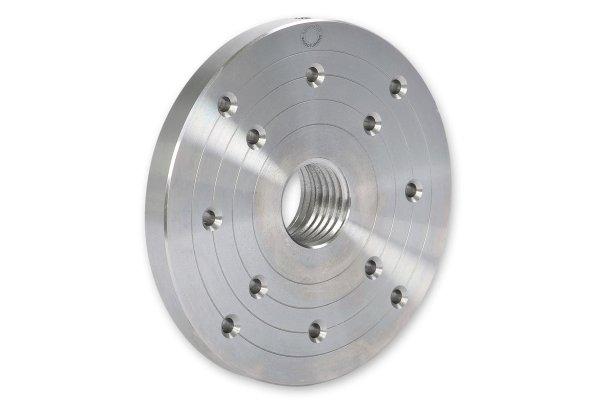 Planscheibe, Stahl mit drei Teilkreisen Ø 150 mm