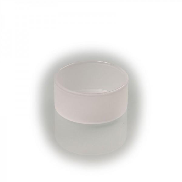Teelicht-Glas matt, handgefertigt