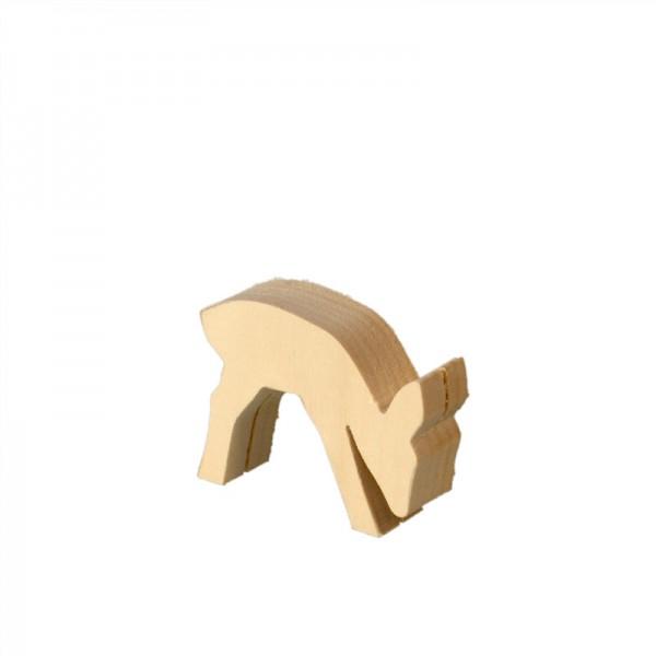 vorgesägter Schnitzrohling aus Linde, Reh