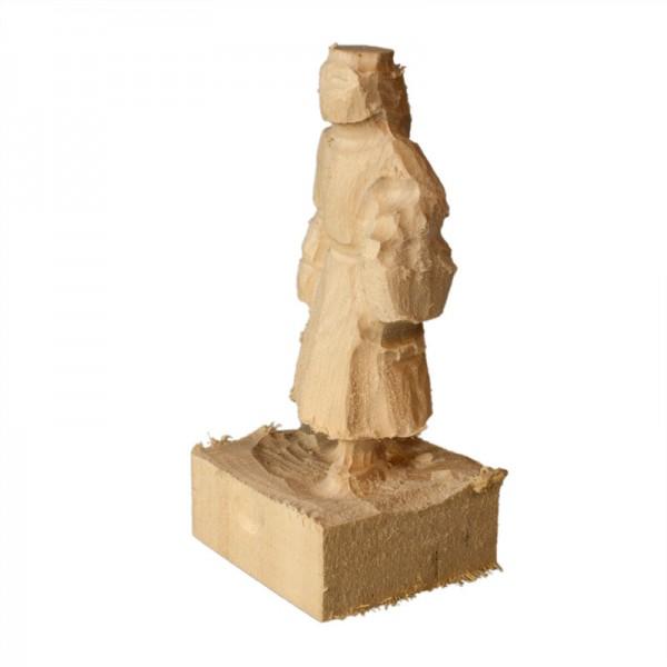 vorgefräster Schnitzrohling aus Linde, Pilzfrau