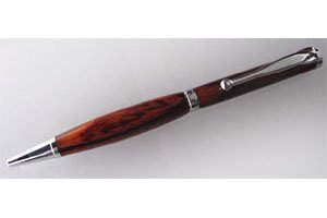 Dreh-Kugelschreiber-Bausatz mit Kugelclip, chrom