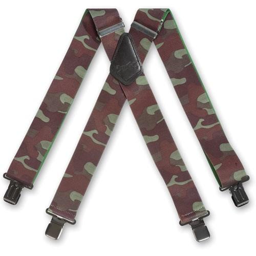 Woodland-Camouflage X-Hosenträger