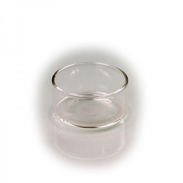 Teelicht-Glas klar, handgefertigt