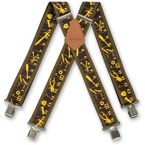 X-Hosenträger Maßband, Farbe: schwarz