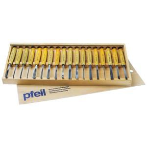 Werkzeugsatz Kerbschnittbeitel 18-teilig, Pfeil