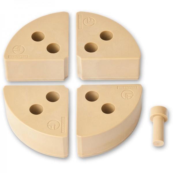 Kunststoff-Aufsatzbacken für Axminster-Drechselfutter
