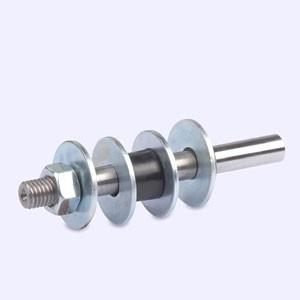 Stahl-Dorn für zwei Standardscheiben für Koch Schärfsystem