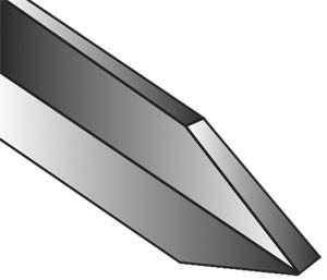 Abstechstahl Rille Neuhammer geschmiedet