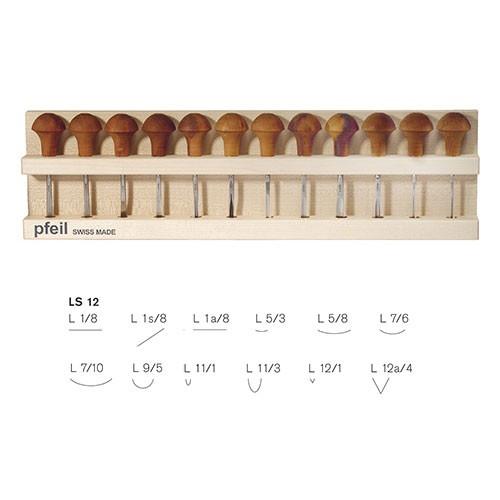 Pfeil, Holz- und Linolschnittbeitel, 12-teiliger Satz