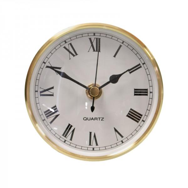 Bausatz Uhr, messing/weiß/Acryl, Ø 100 mm