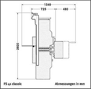 Abricht-Dickenhobel-Maschine FS41 classic Tersa