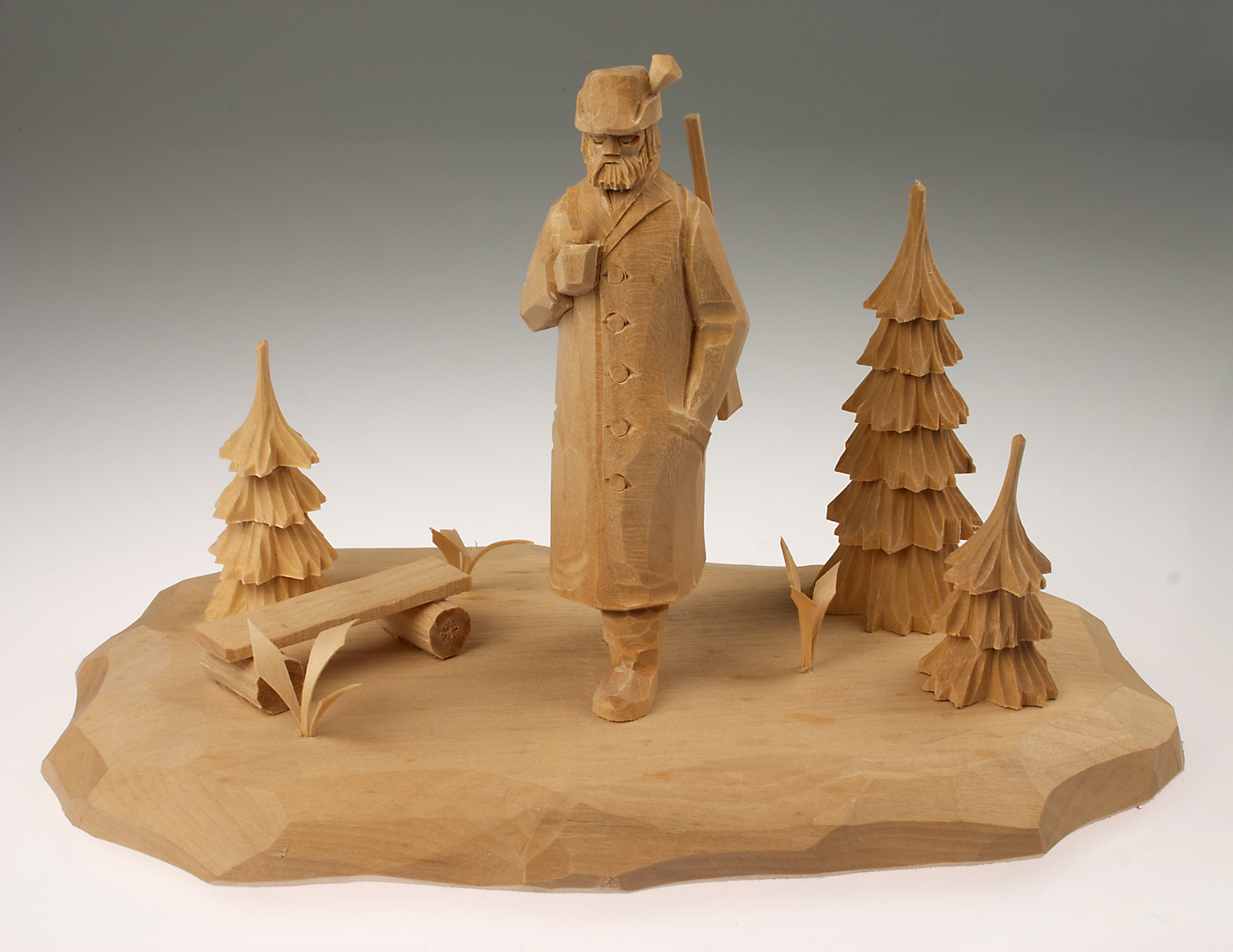 Template for re-carving, forester