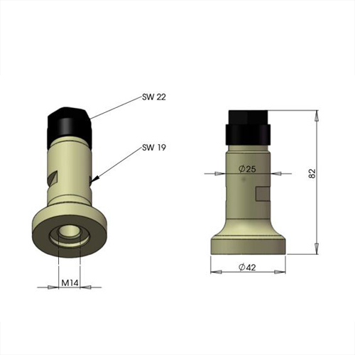 Multi-Schaft Werkzeugaufnahme für Winkelschleifer