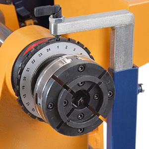 24-step index disc for wood lathe