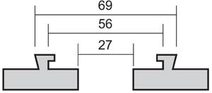 Schwalbenschwanz-Aufsätze Typ C